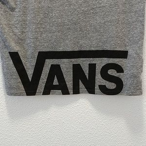 Vans Tops - Van's Women's Spell Out Short Sleeve Cropped Tee M